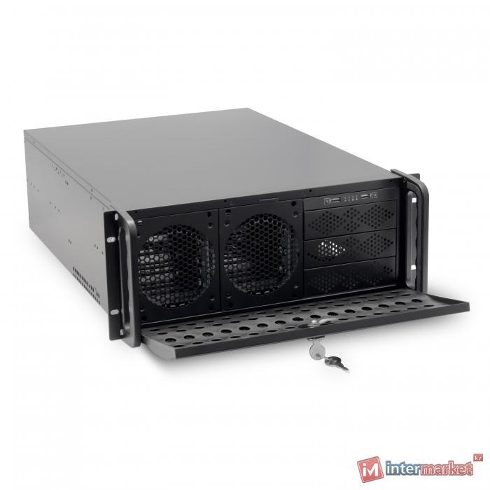 Корпус Delux DLC-MU800, 4U, +салазки DLA-419, black