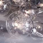 Гирлянда 2,7м теплобелая Шары стекло Веста d 6см прозрачные кабель прозрачный 1,5м 10 ламп indoor